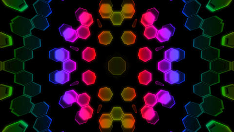 Kaleidoscope Hex 2 Cb 1 HD Animation