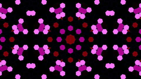 Kaleidoscope Hex 3 Aa 3 HD Stock Video Footage