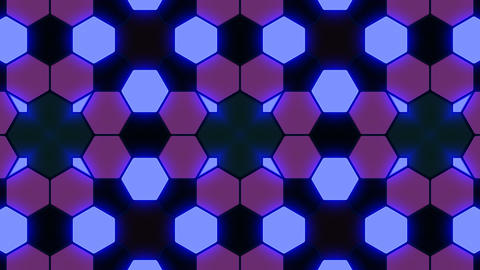 Kaleidoscope Hex 3 Ba 2 HD Stock Video Footage