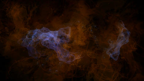 explosion magma energy field,smoke & fire in space Stock Video Footage
