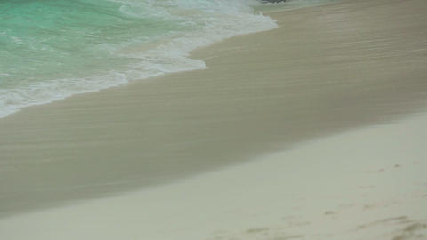 Waves rolled on the sand of Beach Footage