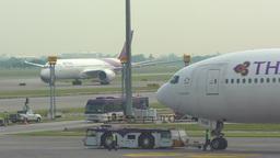 Traffic at Suvarnabhumi Airport Footage