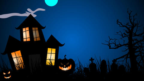 Halloween Creepy spider walk and other animations design element After Effects Template
