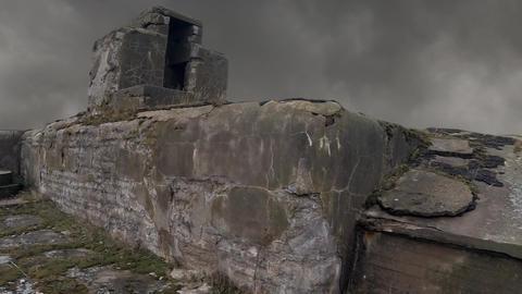 Smoke over fort Totleben Footage