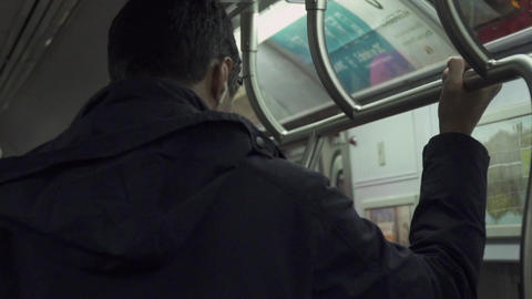 Views of subway passengers in NYC Footage