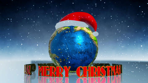 Merry Christmas Earth stock footage