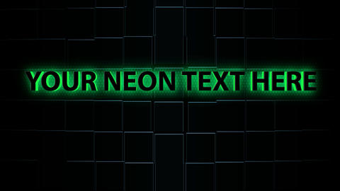 3d neon text animation After Effects Template
