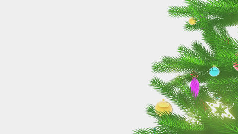 Decorated Christmas tree motion background Loop 4K Animation