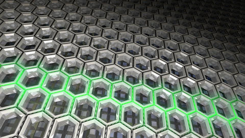 Metal Hexagon Pattern Background Animation