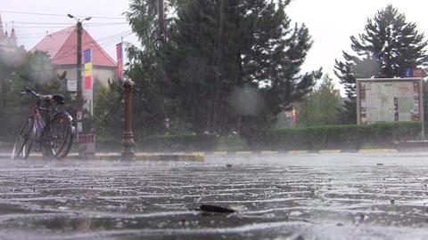 Car traffic on heavy rain 05 Footage