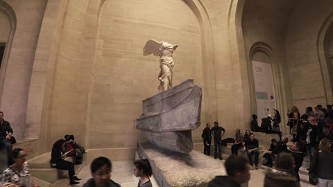 The Winged Victory of Samothrace, also called the Nike of Samothrace in the Louv Footage