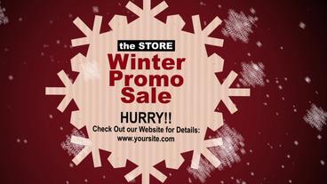Winter Sale stock footage