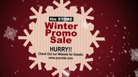 Winter Sale After Effects Template