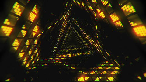VJ Loop Yellow Tunnel Animation