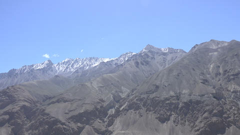 Snowcapped Mountain, Pamir Mountains, Tajikistan Footage