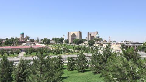 City View of Samarkand, Uzbekistan Footage