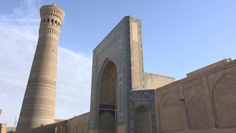 Kalyan Mosque, Bukhara, Uzbekistan Footage