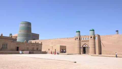 Kunya Ark Citadel, Itchan Kala, Khiva, Uzbekistan Footage