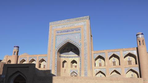 Allakuli Khan Madrasah, Itchan Kala, Khiva, Uzbekistan Footage