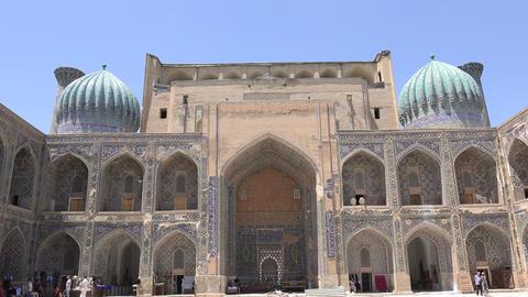 Sher Dor Madrasah, Registan, Samarkand, Uzbekistan Footage