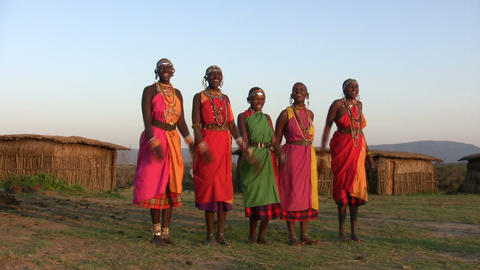 Masai People, Masai Mara Footage