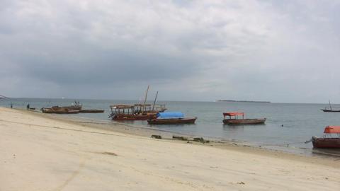 Boats on Beach Footage