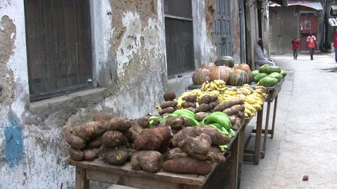 Vendor Selling Vegetable In Street Footage