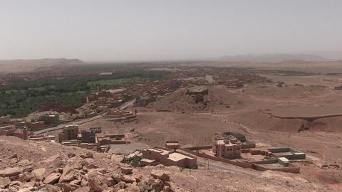 High Angel View Of Village In Desert Footage