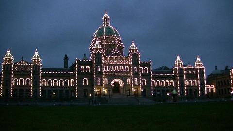 Canadian Parliament Building, Victoria, Canada Footage