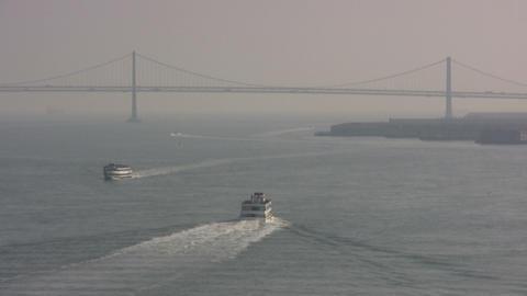 Ship In Ocean stock footage