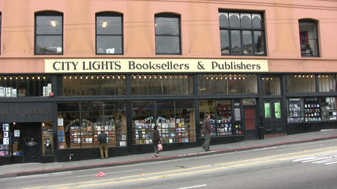 View of City Lights Bookstore Footage