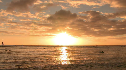 Pacific Ocean, Waikiki Footage
