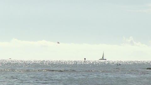View of Waves in Ocean, Waikiki Footage