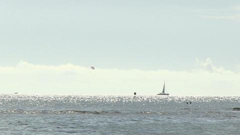 View of Waves in Ocean, Waikiki Footage