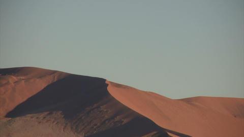 Sand Dunes in Namib Desert, Namibia Footage