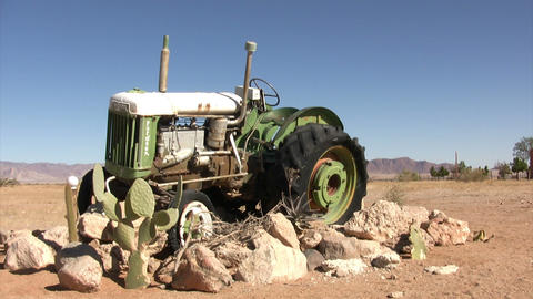 Abandoned Tractor in Namib Desert, Namibia Footage