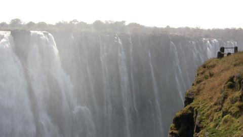 Water Falling From Rocks Footage