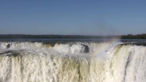 Rainbow Over Iguazu Falls Footage