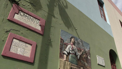 Paintings And Frames On Wall Footage