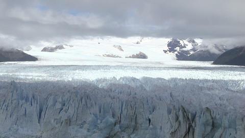 Perito Moreno Glacier Against Cloudy Sky Footage