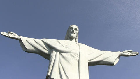 Low Angle View of Christ the Redeemer Statue Footage