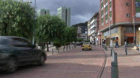 Street scene in Bogota, Columbia Footage
