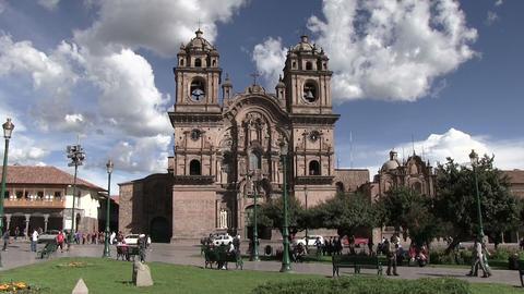 View of Plaza de Armas Footage
