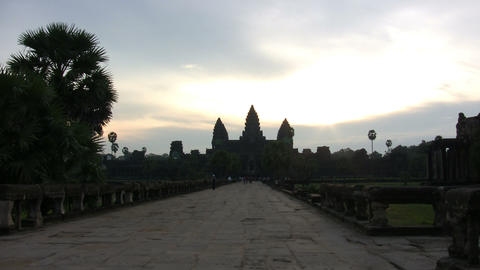 Sunrise on Angkor Wat Temple Footage