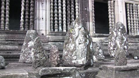 Statues at Angkor Wat Temple Footage