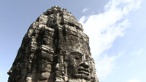 Bas-relief on Angkor Wat Temple Footage