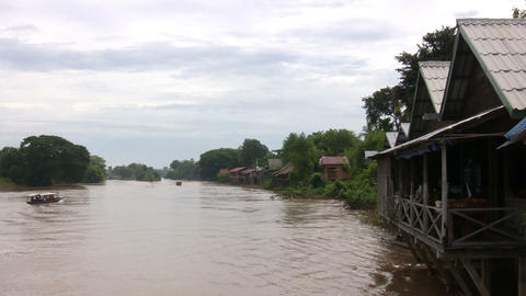 Mekong River, Don Det, Laos Footage