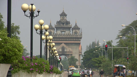 Patuxai, Vientiane, Laos Footage