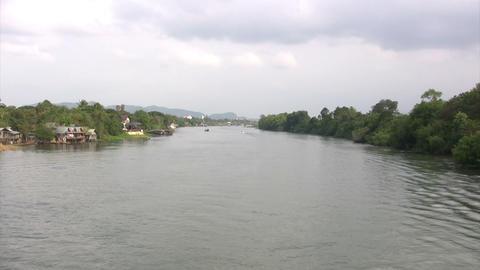 Kwai River, Kanchanaburi, Thailand Live Action