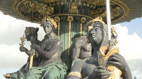 Fountain at Place de la Concorde Footage